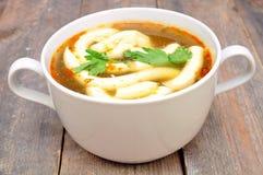Суп гриба с майонезом Стоковые Фотографии RF