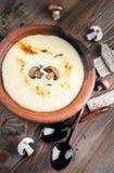Суп гриба Champignons стоковое изображение