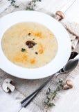 Суп гриба Champignons стоковое фото rf
