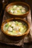 Суп густого супа цыпленка и картошки Стоковое фото RF