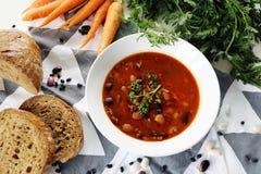 суп еды фасоли греческий традиционный Стоковая Фотография RF