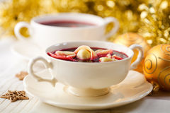 суп заполированности рождества barszcz Стоковое Фото