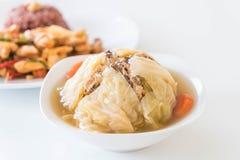 Суп заполненной капусты Стоковое Фото