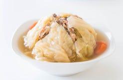 Суп заполненной капусты Стоковая Фотография RF