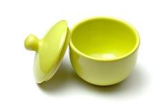 суп зеленого цвета dishware фарфора Стоковое Изображение RF