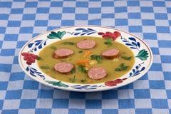 суп зеленого гороха Стоковые Изображения