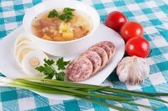 Суп и разнообразие овощи Стоковые Фото