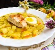 Суп картошек цыпленка Стоковая Фотография RF
