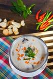 Суп кокоса с цыпленком Стоковая Фотография
