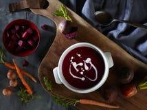 Суп корня свеклы Стоковые Фото