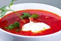 суп красного цвета борща свеклы Стоковое Изображение RF