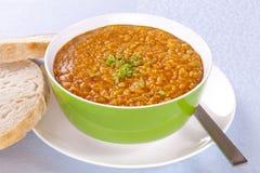 суп красного цвета чечевицы Стоковое Фото
