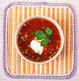 суп красного цвета borscht Стоковая Фотография RF