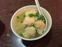 Суп лапши с wonton стоковое фото