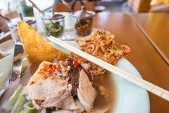 Суп лапши Foo животиков иен тайский стоковые изображения rf