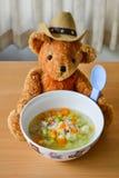 суп макаронных изделия шара Стоковые Фото