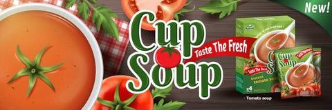 Суп момента времени томата иллюстрация штока