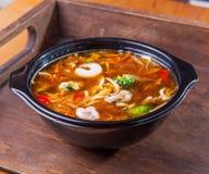 Суп морепродуктов лапшей udon еды Стоковое Изображение RF