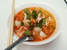 Суп морепродуктов Тома Яма Стоковая Фотография RF