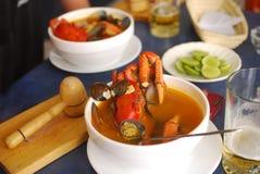 суп морепродуктов Стоковое фото RF