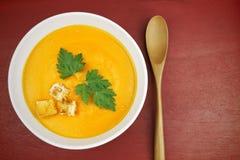 суп моркови вкусный Стоковая Фотография RF
