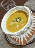 Суп на таблице Стоковые Изображения
