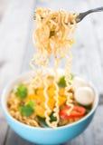 Суп немедленных лапшей Стоковое Изображение