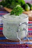 Суп огурца стоковая фотография rf