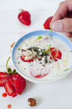 суп охлаженный миндалиной стоковые изображения