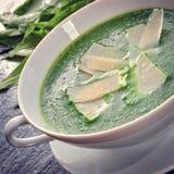 Суп одичалого чеснока с пармезаном стоковое фото