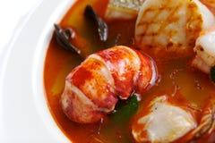 суп продуктов моря Стоковая Фотография