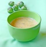 суп пюра тыквы капусты brussels стоковые фотографии rf