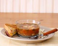 суп сандвича Стоковое Изображение