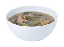 Суп свинины на белой предпосылке Стоковые Изображения RF