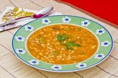суп середины чечевицы восточной еды ливанский Стоковые Изображения RF