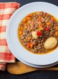 суп середины чечевицы восточной еды ливанский Стоковое Фото