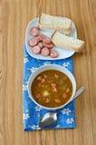 суп середины чечевицы восточной еды ливанский Стоковые Изображения