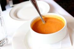 Суп сквоша Butternut для обеда Стоковые Фото