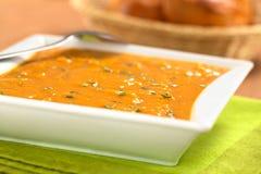 Суп сладкого картофеля стоковая фотография rf