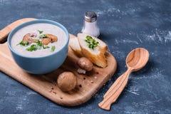 Суп сливк гриба Champignon Стоковая Фотография RF