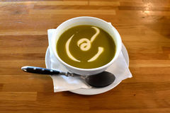 Суп спаржи cream с сметаной Стоковые Изображения RF