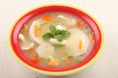 Суп сливк гриба устрицы Стоковое Фото