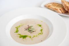 Суп сливк гриба Champignon Стоковое Изображение RF