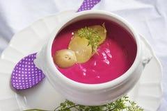 Суп сливк красной свеклы Стоковые Изображения