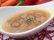 Суп с фрикадельками стоковая фотография