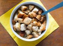 Суп с Croutons Стоковое фото RF