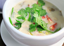 суп тайский tom kha kai Стоковое Изображение RF