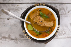 суп томата с мясом сои Стоковое Фото
