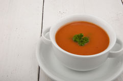 Суп томата с петрушкой Стоковые Фотографии RF