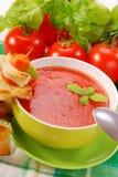 Суп томата cream с croutons Стоковое Изображение RF